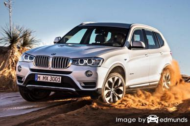 Insurance rates BMW X3 in Lexington