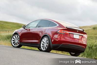 Insurance quote for Tesla Model X in Lexington
